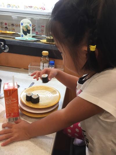かっぱ寿司で納豆巻き