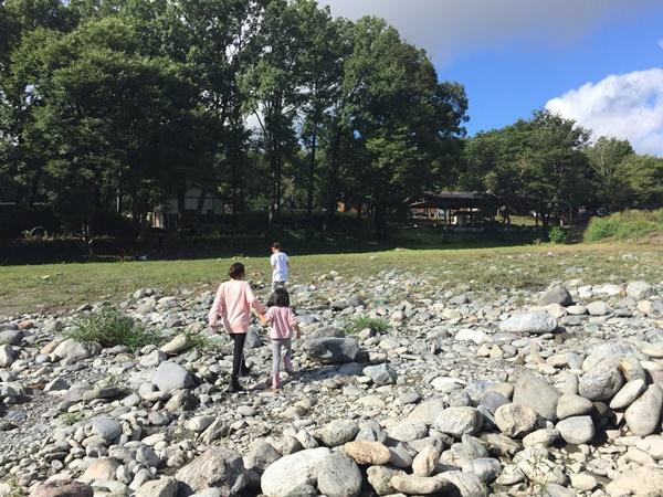 川遊びからキャンプ場へ