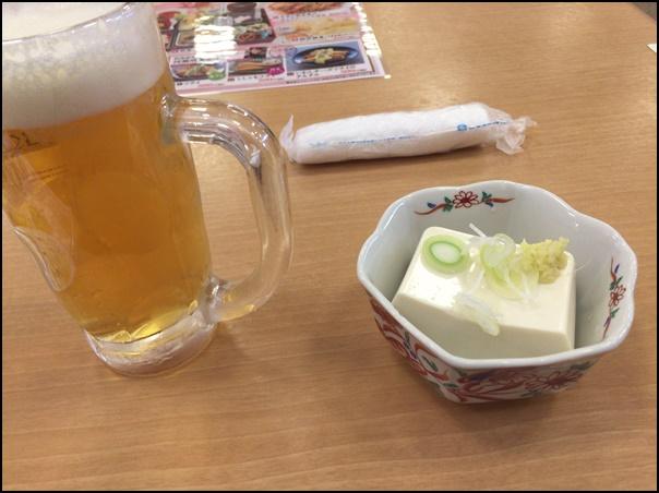 中生ビールとおつまみセット