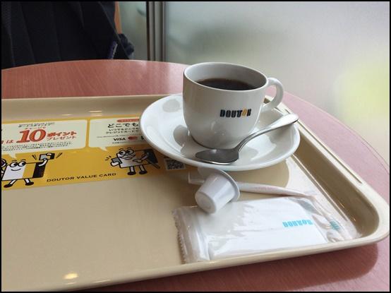 ドトールでコーヒー